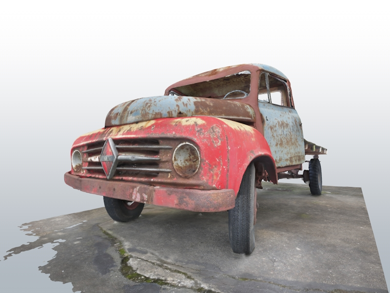 3D scan of an old car